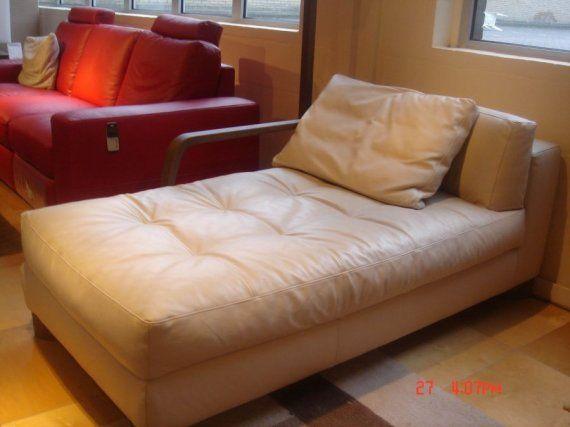 natuzzi longchair leder kussen 31678. Black Bedroom Furniture Sets. Home Design Ideas