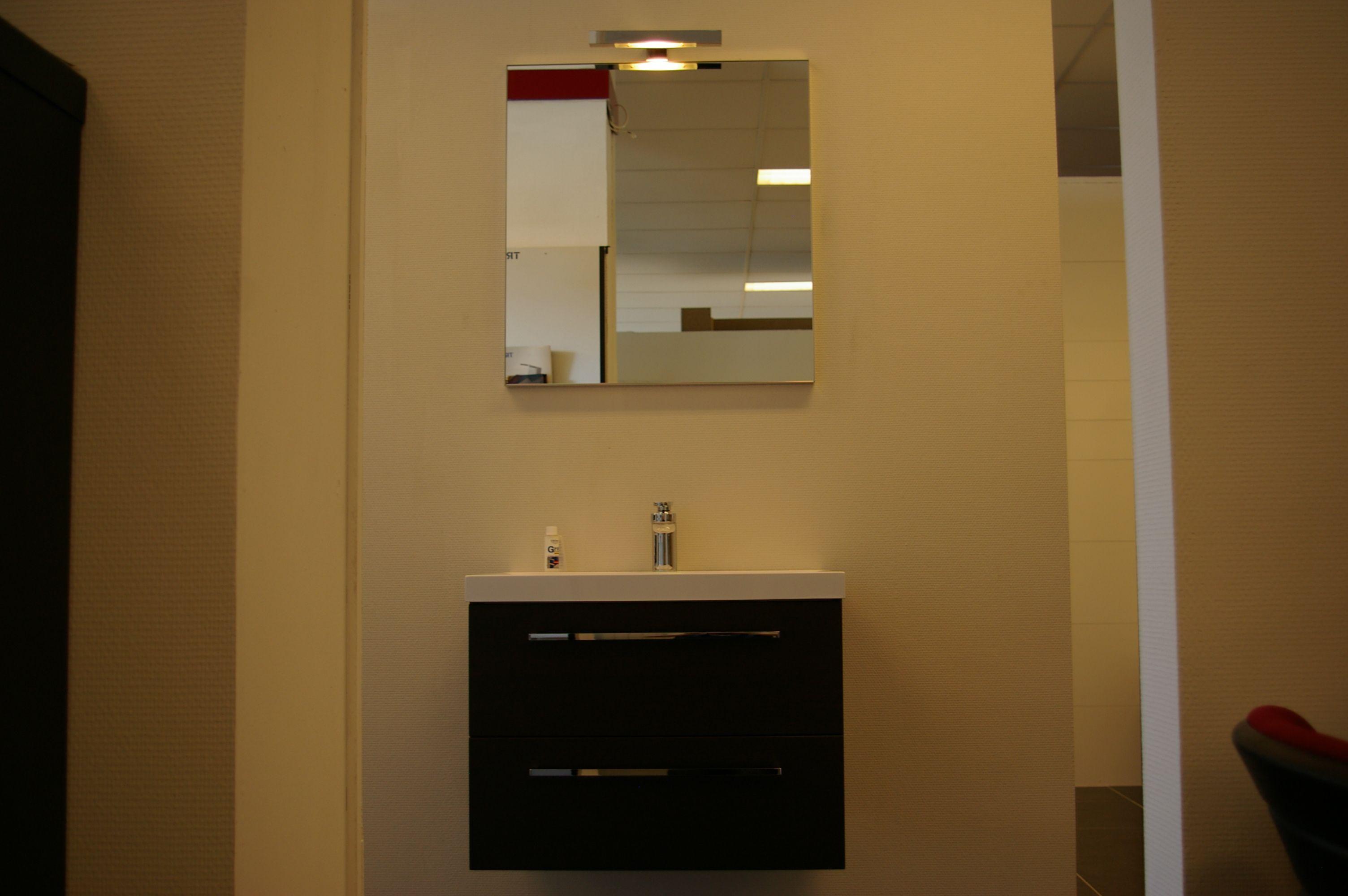 Showroomuitverkoop.nl badmeubel laguna bruin en spiegel compleet