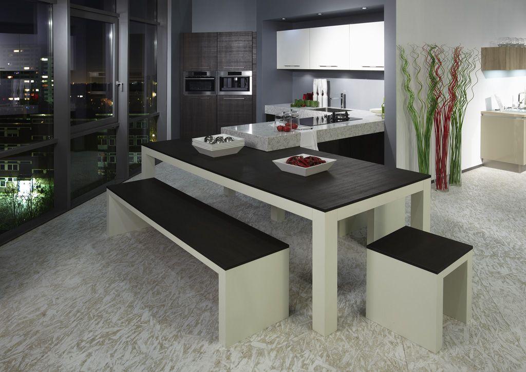 Keuken Schiereiland Met : Keuken schiereiland keuken met beton blad