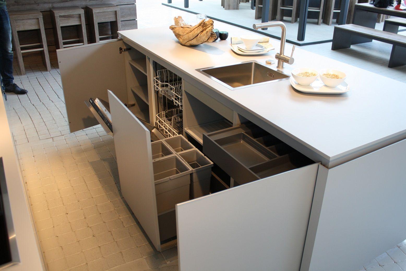 Hoekkeuken Eiland : Showroomuitverkoop nl Moderne eiland keuken 1 5 [51019]