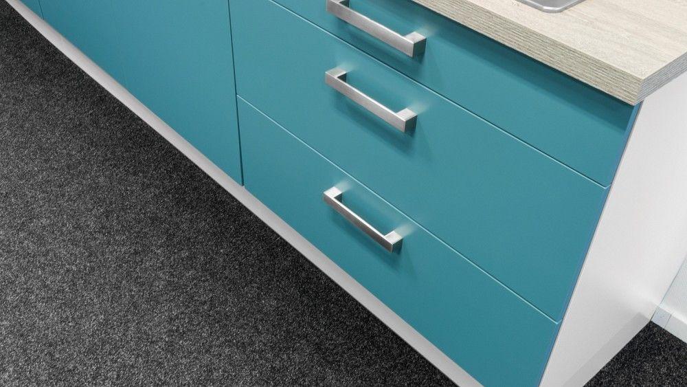 Compacte keuken in staalblauw 54747 - Werkblad gelamineerd compact ...