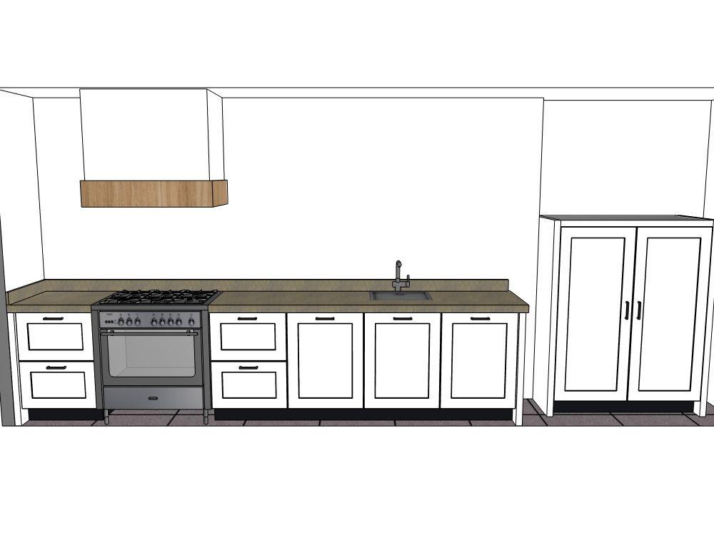 Moderne rechte keuken met matgelakte fronten 57711 - Afbeelding moderne keuken ...