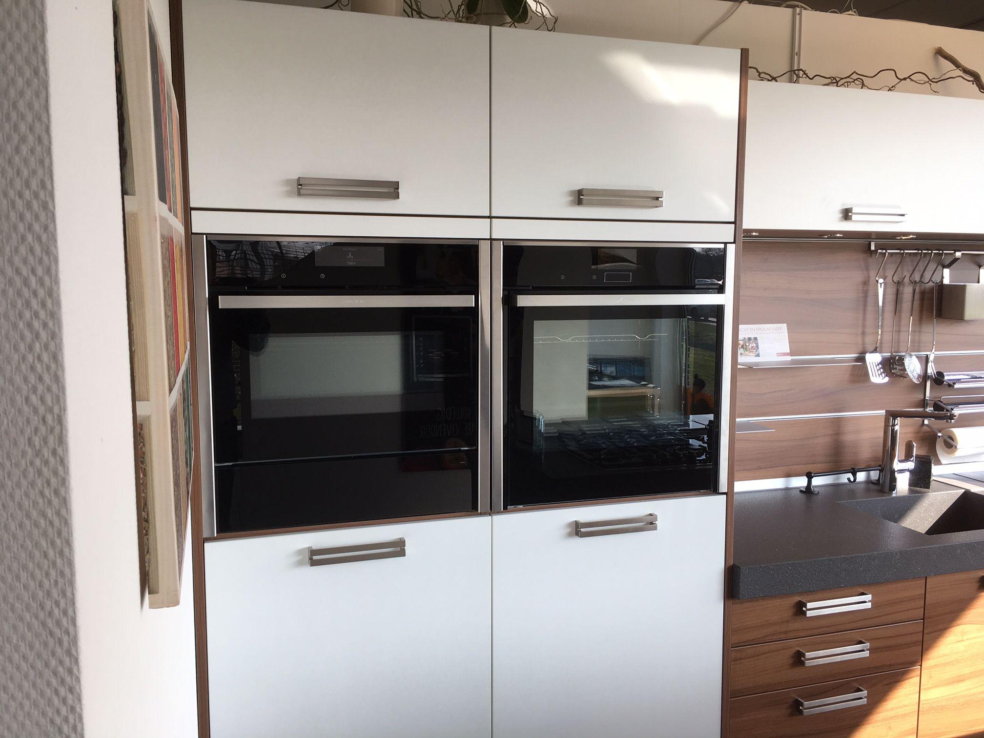 Luxe eiland keuken met top apparatuur 54111 - Keuken wit hout werkblad ...