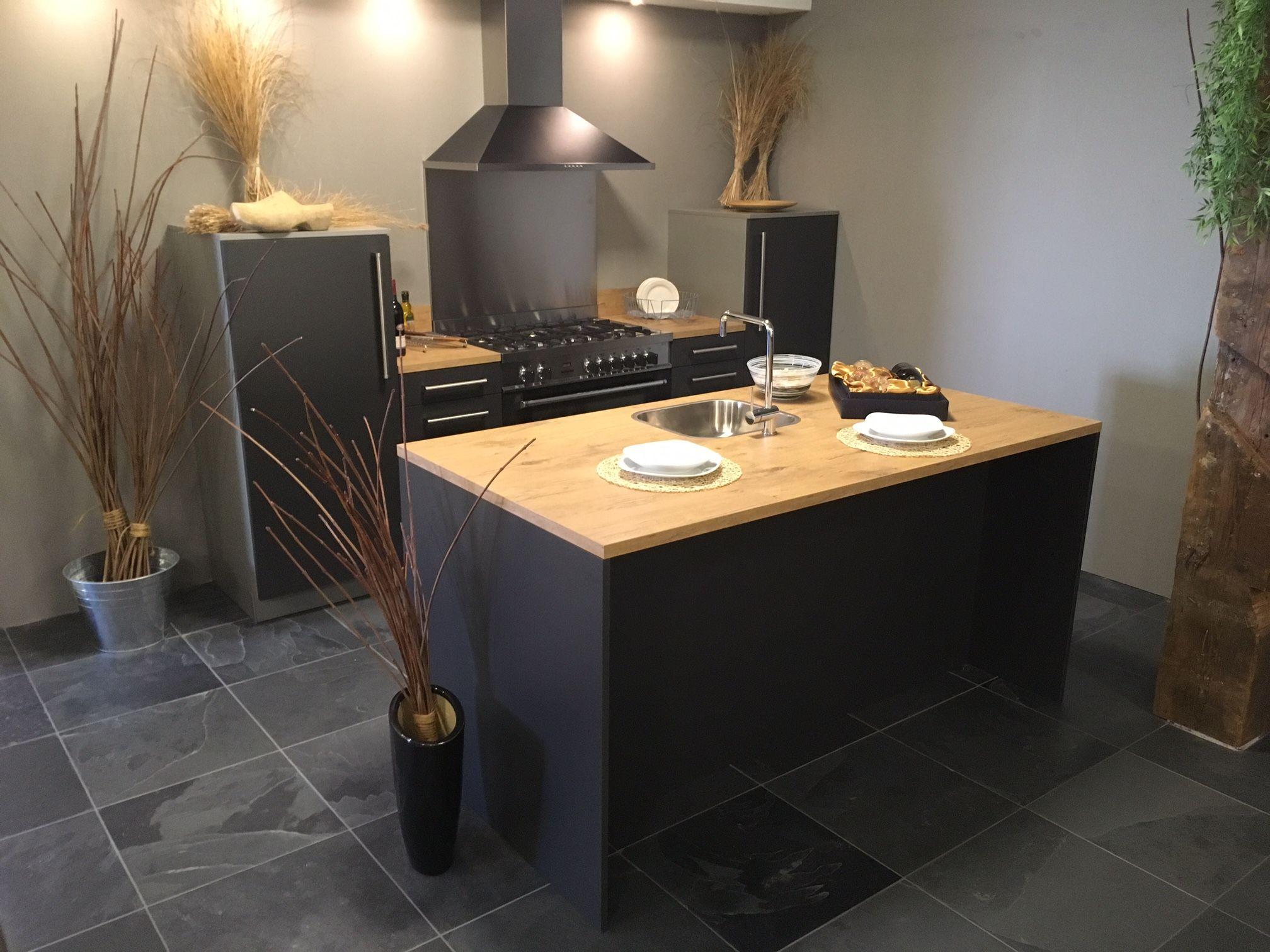 Showroomuitverkoop.nl   Eiland keuken modern grijs [54120]